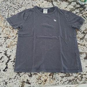 Boys size 9 10 Abercrombie logo t shirt grey gray